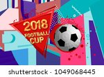 football 2018 world... | Shutterstock .eps vector #1049068445
