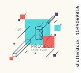 trendy abstract art geometric... | Shutterstock .eps vector #1049069816