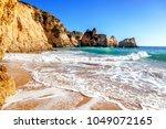 beautiful sea view with secret... | Shutterstock . vector #1049072165