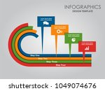 infographic template. vector... | Shutterstock .eps vector #1049074676