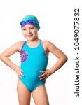 swimmer  little 7 years old... | Shutterstock . vector #1049077832