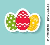easter  a sign of easter... | Shutterstock .eps vector #1049083166