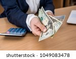 close up of business lady that... | Shutterstock . vector #1049083478