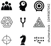 strategy icon set   Shutterstock .eps vector #1049087042