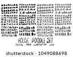 set of vector doodle drawing... | Shutterstock .eps vector #1049088698