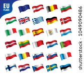 flags of the european union | Shutterstock .eps vector #1049090486