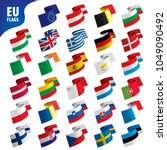 flags of the european union | Shutterstock .eps vector #1049090492