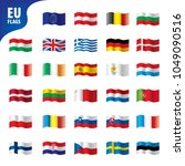 flags of the european union | Shutterstock .eps vector #1049090516