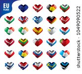 flags of the european union | Shutterstock .eps vector #1049090522