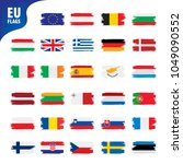 flags of the european union | Shutterstock .eps vector #1049090552