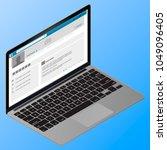 isometric flat design. vector... | Shutterstock .eps vector #1049096405