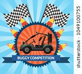 buggy car competition banner...   Shutterstock . vector #1049100755