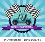 buggy rally competition banner...   Shutterstock . vector #1049100758