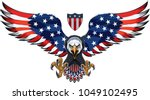 american eagle with usa flags | Shutterstock .eps vector #1049102495