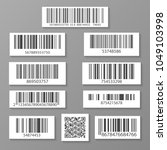 realistic barcode icon set... | Shutterstock . vector #1049103998
