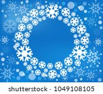 snowflake  wreath isolated.... | Shutterstock . vector #1049108105