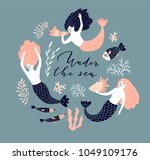cute hand drawn poster design... | Shutterstock .eps vector #1049109176