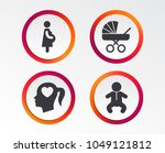 maternity icons. baby infant ...   Shutterstock .eps vector #1049121812
