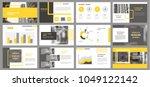 slides. modern presentation... | Shutterstock .eps vector #1049122142