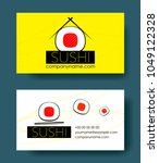 sushi horizontal business cards ... | Shutterstock .eps vector #1049122328
