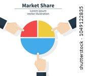 business market share concept.... | Shutterstock .eps vector #1049122835