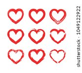 set of hearts icons. vector... | Shutterstock .eps vector #1049122922