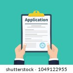 application form. man with... | Shutterstock .eps vector #1049122955