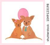 vector flat illustration. cute... | Shutterstock .eps vector #1049123198
