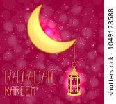ramadan kareem. lantern and... | Shutterstock .eps vector #1049123588