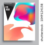 covers background with liquid... | Shutterstock .eps vector #1049124158