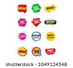 sale banners. best offers ... | Shutterstock .eps vector #1049124548