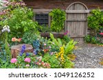 landscaped backyard of old... | Shutterstock . vector #1049126252