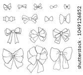 doodle set of bows | Shutterstock .eps vector #1049126852