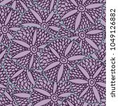 trendy seamless pattern with... | Shutterstock .eps vector #1049126882