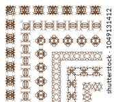 decorative border frame... | Shutterstock .eps vector #1049131412