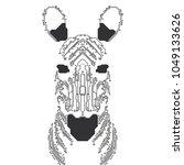 futuristic elctronic horse ... | Shutterstock .eps vector #1049133626
