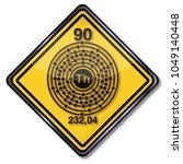 chemistry mark thorium | Shutterstock . vector #1049140448