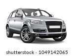 Stock photo  d illustration of silver suv car on white background 1049142065