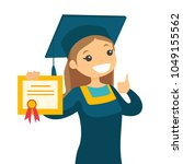 Caucasian White Graduate In...