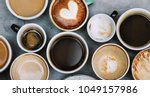 aerial view of various coffee | Shutterstock . vector #1049157986