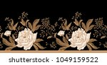 peonies and roses. floral... | Shutterstock .eps vector #1049159522