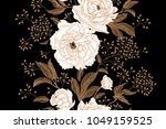 peonies and roses. floral... | Shutterstock .eps vector #1049159525