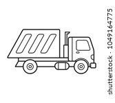 garbage truck icon vector template stock vector royalty free