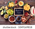 mexican traditional food on... | Shutterstock . vector #1049169818