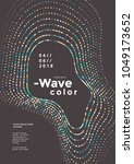 modern colorful mosaic wave... | Shutterstock .eps vector #1049173652
