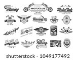 vector set of original bikers... | Shutterstock .eps vector #1049177492