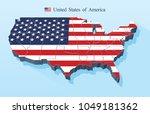 usa map vector | Shutterstock .eps vector #1049181362
