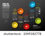 infographic company milestones... | Shutterstock .eps vector #1049182778