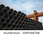 a large amount of steel is... | Shutterstock . vector #1049186768
