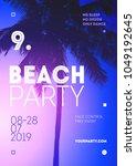 summer beach party poster... | Shutterstock .eps vector #1049192645